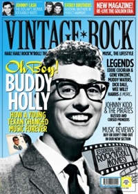 Vintage Rock issue 2 cover with Buddy Holly