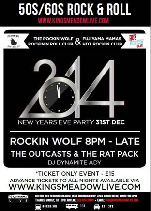 Rockin Wolf New Years eve party – 31st December 2014