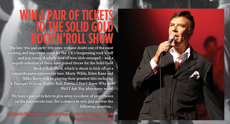 WIN A PAIR OF TICKETS TO THE SOLID GOLD ROCK'N'ROLL SHOW