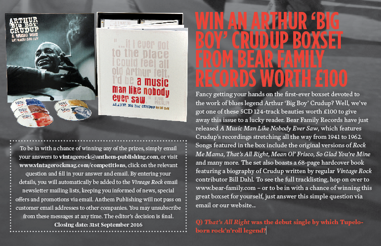 WIN AN ARTHUR 'BIG BOY' CRUDUP BOXSET FROM BEAR FAMILY RECORDS WORTH £100