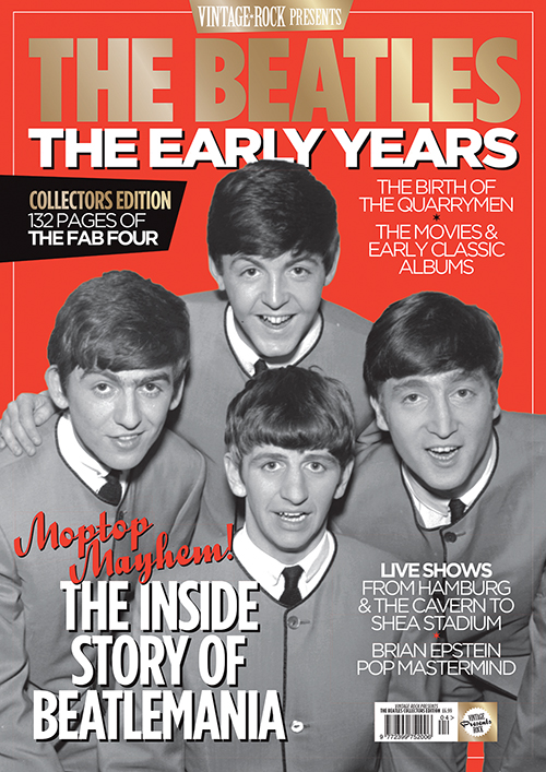 The Beatles: The Early Years Collectors Edition of Vintage Rock magazine is on sale now!