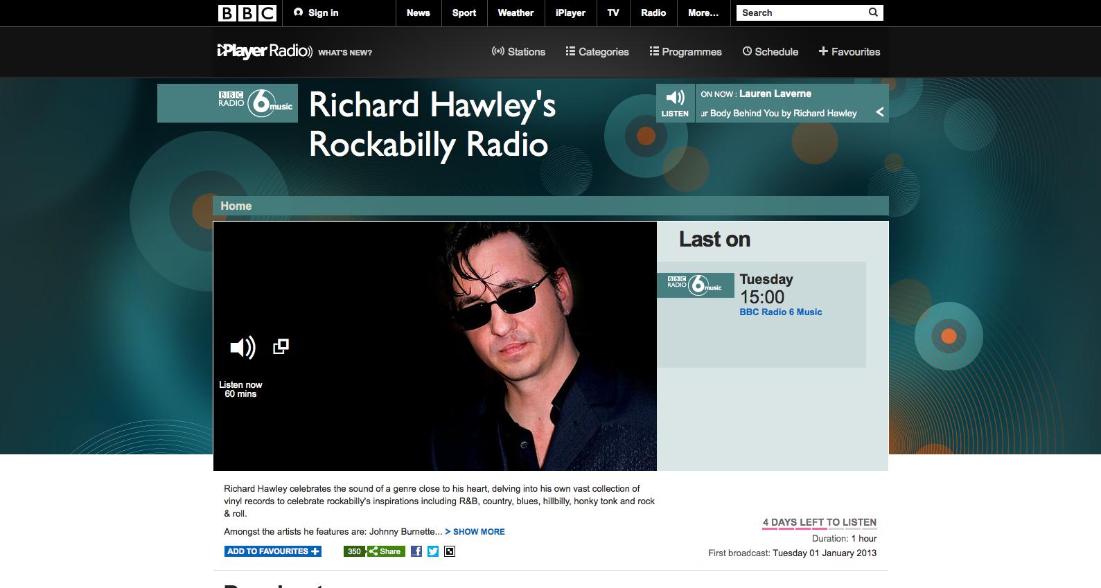 Richard Hawley's Rockabilly Radio Show