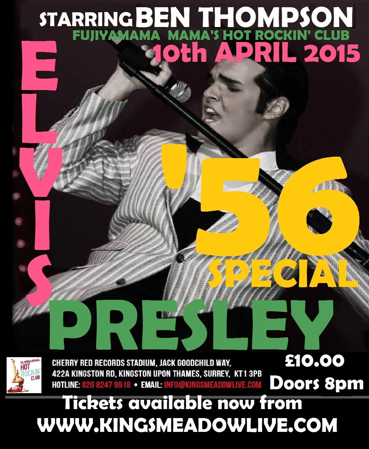 Elvis Presley Tribute To Play Fujiyama Mama's Rockin' Club