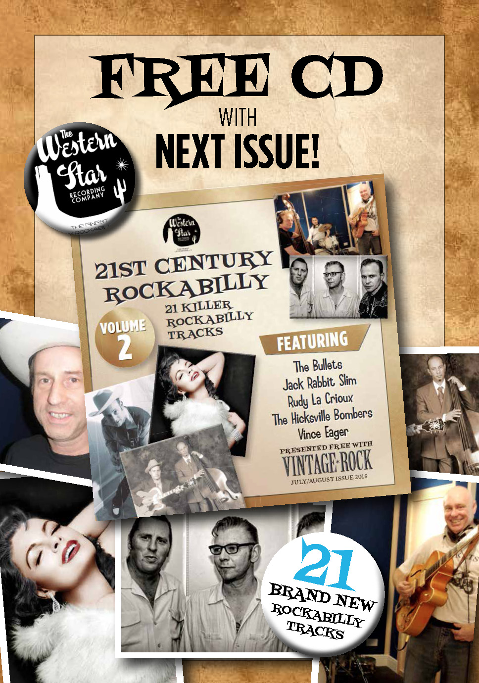 Enjoy a FREE Rockabilly CD with Vintage Rock Issue 18