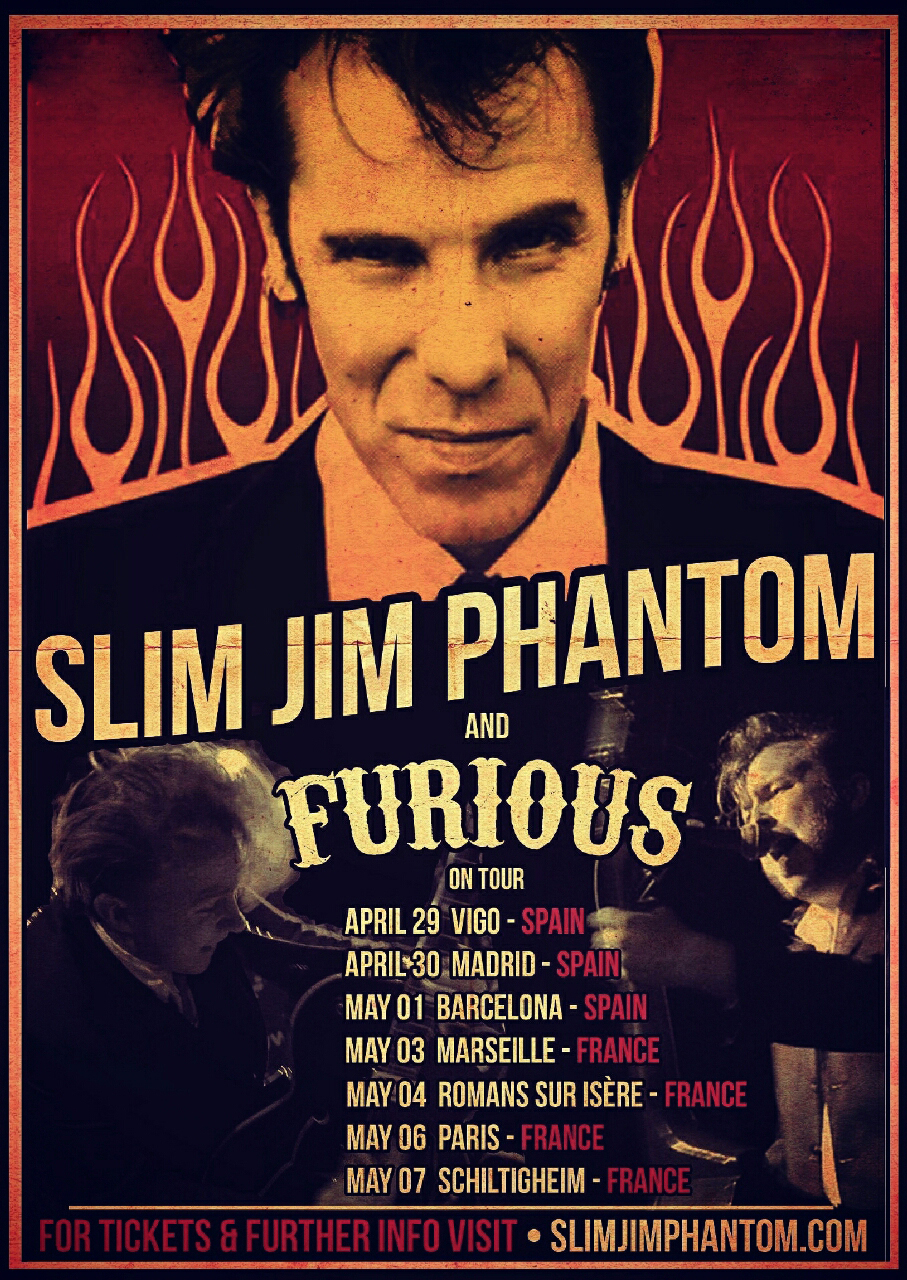 Win 1x pair of tickets to se Slim Jim Phantom and Furious live in Liverpool on 22nd April.