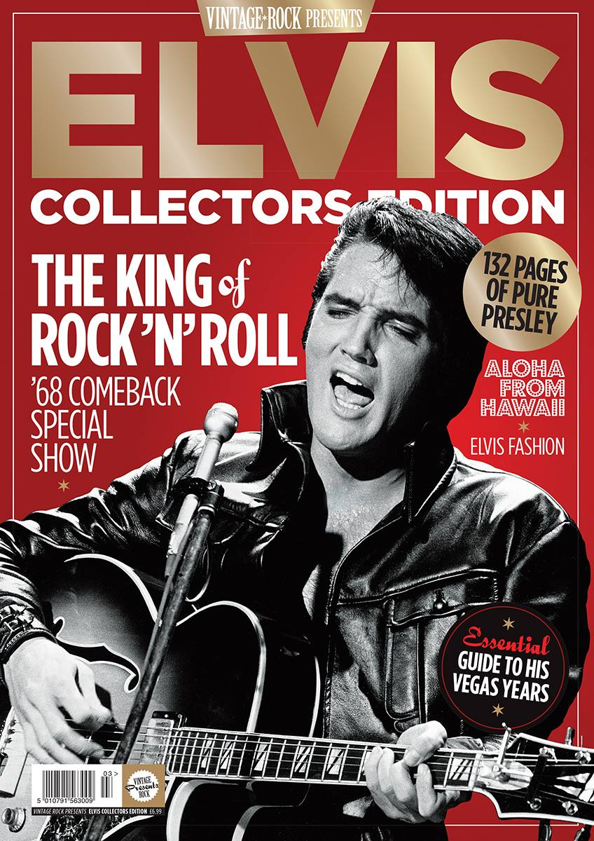 The latest Elvis special collectors edition of Vintage Rock magazine is on sale now!